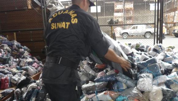 Incautaron 3 toneladas de ropa china valorizadas en S/. 500 mil