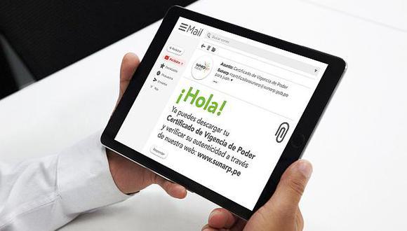 La entrega del certificado de vigencia de poder puede hacerse a través del correo electrónico, informó la Sunat. (Foto: GEC)