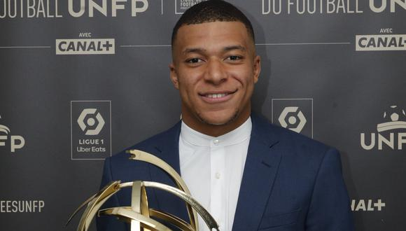 Mbappé ganó el premio de la UNFP como el mejor jugador de la temporada 2020-21 en Ligue 1 (Foto: PSG)