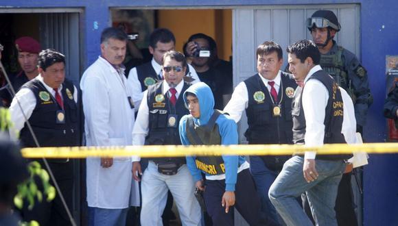 Cristhian Cruzate Pereda fue detenido dos meses después del crimen de Ezequiel Nolasco. Ante las autoridades confesó que le pagaron S/5 mil por asesinar al ex consejero. (Foto: Roberto Rojas)