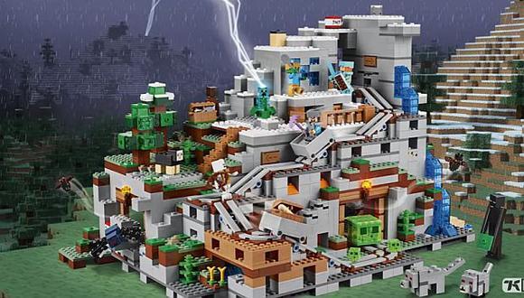 'Lego Minecraft Mountain Cave Reveal' estará disponible a partir del primero de julio. (Foto: captura de YouTube)