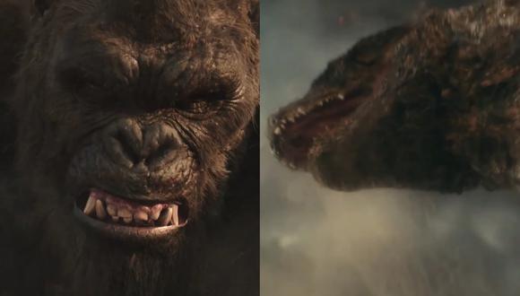 """Las bestias protagónicas de """"Godzilla vs. Kong"""", tal y como aparecen en el nuevo tráiler internacional. Foto: Warner Bros."""