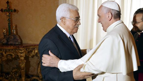 Francisco y Mahmud Abbas
