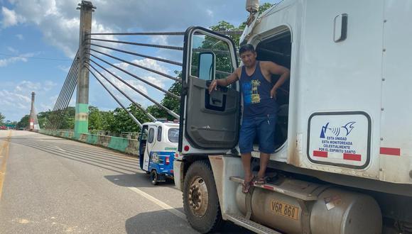 El conducto pidió la oportunidad de dejar su carga y luego retornar a Brasil para volver al Perú transportando maíz. (Foto: Manuel Calloquispe)