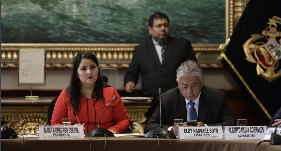 La Comisión de Educación presidida por Tamar Arimborgo se ha propuesto investigar a la Sunedu. (Foto: Congreso).