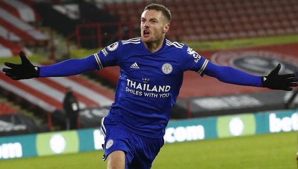 Jamie Vardy tiene 12 goles en la presente temporada de la Premier League. (Foto: AFP)
