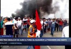 Tumbes: enfrentamiento entre la Policía y agricultores deja cuatro heridos