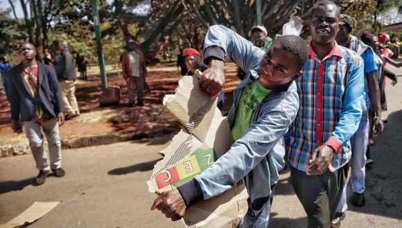 Zimbabue: Partido que está en el poder desde 1980 vuelve a ganar en las elecciones. (Foto: AFP)