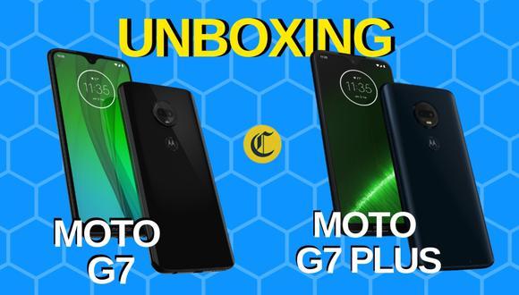 Aquí verás el unboxing del Moto G7 y el Moto G7 Plus, dos nuevos smartphones de gama media presentados por Motorola. (El Comercio)