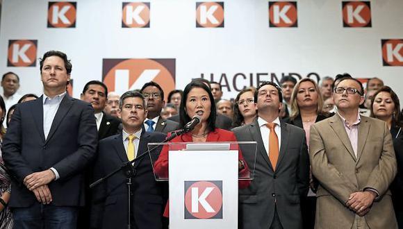 En menos de dos años, la bancada de Fuerza Popular sufrió la renuncia de 14 de sus integrantes. (Foto: Anthony Niño de Guzmán/El Comercio)