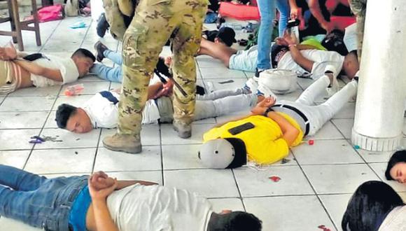 Inicialmente los intervenidos intentaron abrir fuego contra los agentes de la PNP. (Mininter)