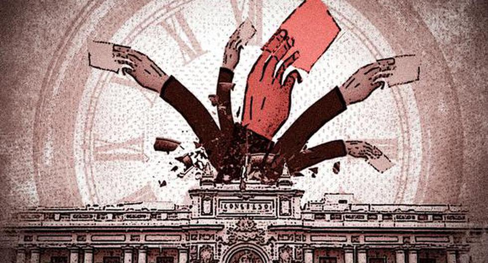 Solo tres bancadas del Parlamento votaron en contra de crear una cuarta legislatura: Frente Amplio, Partido Morado y Fuerza Popular. (Ilustración: El Comercio)