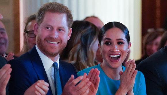 Enrique y Meghan de Sussex. (Foto: AFP)