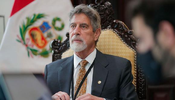 Presidente de la República del Perú, Francisco Sagasti, confirma muerte de líder senderista Jorge Quispe Palomino. (Foto: Presidencia de la República)