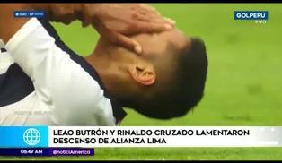 Rinaldo Cruzado y Leao Butrón se pronuncian tras descenso de Alianza Lima