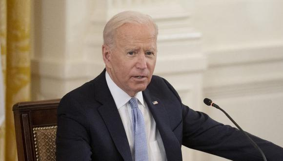 El presidente de Estados Unidos, Joe Biden, durante la primera Cumbre de Líderes Quad en persona en la Casa Blanca en Washington, DC. ( Foto: Jim WATSON / AFP).