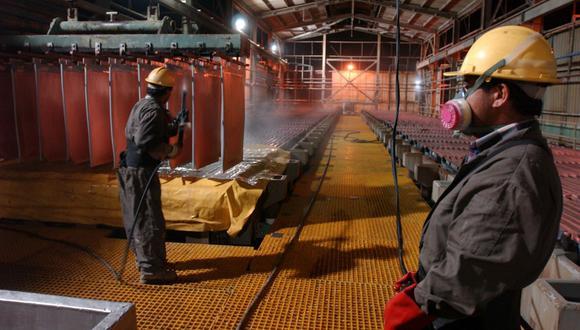Las existencias de cobre en almacenes registrados en la LME suman 210.975 toneladas. (Foto: GEC)