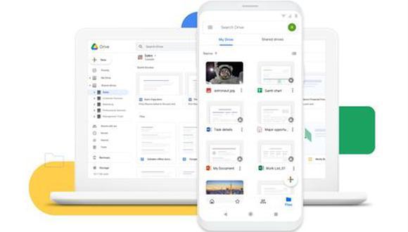 Servicio en la nube Google Drive. (Google)