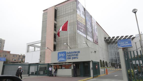Biblioteca Nacional del Perú realizará su primer seminario virtual. (Foto: GEC/Anthony Niño de Guzmán)