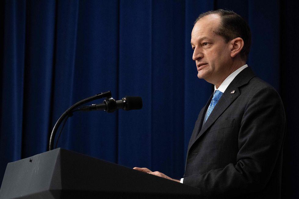Secretario de trabajo de EE.UU., Alexander Acosta. (Foto: AFP)