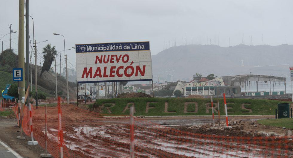 Esta semana, El Comercio informó que existen por los menos 12 grandes obras paralizadas o retrasadas en la capital. Así se encuentra la Costa Verde. (Lino Chipana / El Comercio)