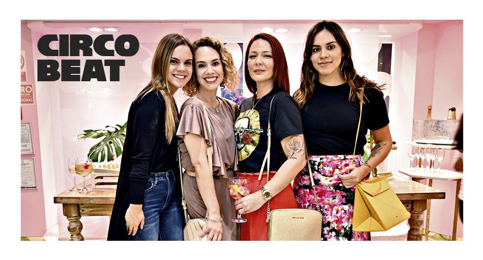 Emilia Gutiérrez, Alana Avendaño, Melissa Palacios y Alexandra Berh en el lanzamiento de la colección Supera por Butrich.