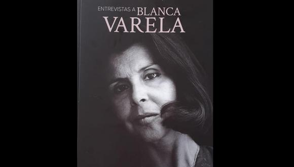 "Portada del libro ""Entrevistas a Blanca Varela."""