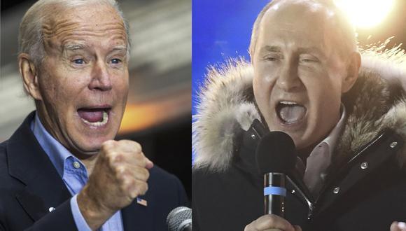 El presidente de Estados Unidos, Joe Biden (Izq.), y su homólogo de Rusia, Joe Biden, se encontrarán el miércoles en una cumbre en Ginebra. (ROBERTO SCHMIDT, KIRILL KUDRYAVTSEV / AFP).