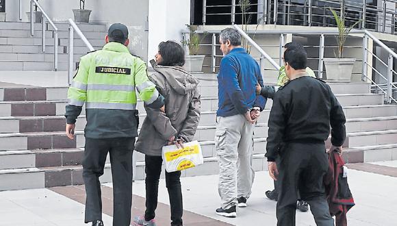 Los extranjeros ayer fueron trasladados al juzgado del Callao para la audiencia de prisión preventiva. (Foto: USI)