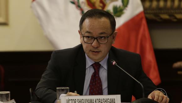 Víctor Shiguiyama se presentó ante el equipo especial del Ministerio Público para el Caso Lava Jato este martes.