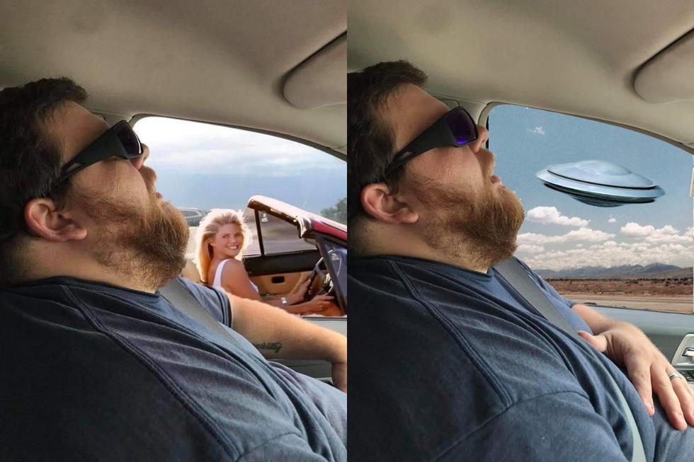 FOTO 1 DE 3 | Una mujer de Estados Unidos no esperaba que la inocente instantánea que le tomó a su esposo durante un viaje familiar se volvería una sensación viral. | Crédito: Sharea Overman / Facebook. (Desliza hacia abajo para ver más fotos)