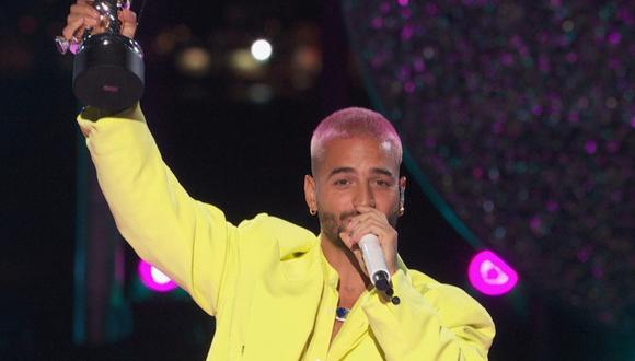 "Maluma presentó  ""Hawái"" en los MTV Video Music Awards. (Foto: MTV / AFP)"