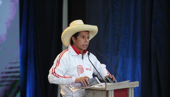 Pedro Castillo, candidato de Perú Libre, (Foto: Hugo Pérez   GEC)