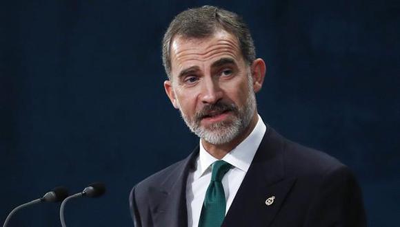 El rey Felipe durante su intervención en la ceremonia de entrega de los Premios Princesa de Asturias 2017. (Foto: EFE)