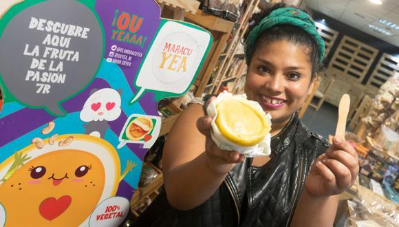 Valeria Eguche y Maracuyea, el primer helado artesanal en Lima que viene en la misma cáscara de la fruta.