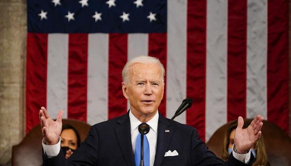 El presidente Joe Biden dio un discurso el miércoles pasado ante el Congreso donde presentó un plan de ayuda económica a las familias estadounidenses. BLOOMBERG