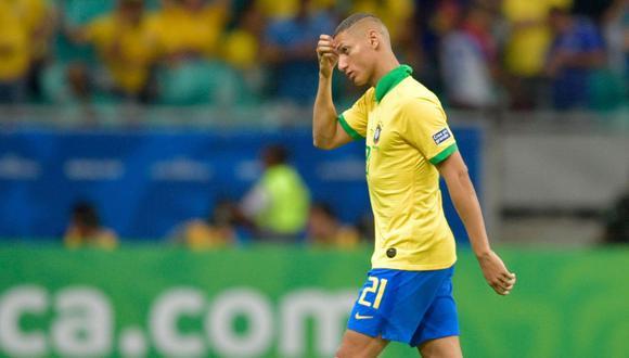 Richarlison es habitual titular en la selección de Brasil. (Foto: AFP)