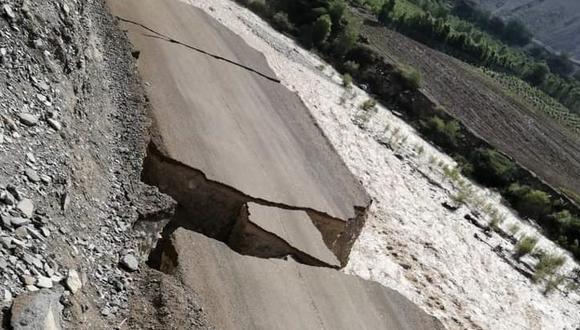 Ica: lluvia y huaycos afectaron carretera dejando aislado pueblo Huayrani en Pisco (Foto: Facebook Anexo Huayrani-Huancano)