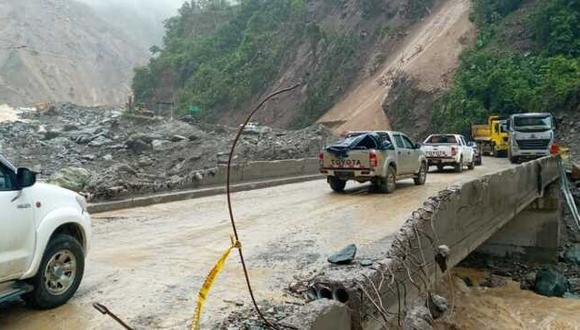 A causa de esta emergencia, el MTC, a través de Provías Nacional, habilitató un acceso por el cauce del río Piene precisando que solo podrán circular vehículos livianos.  (Foto: MTC)