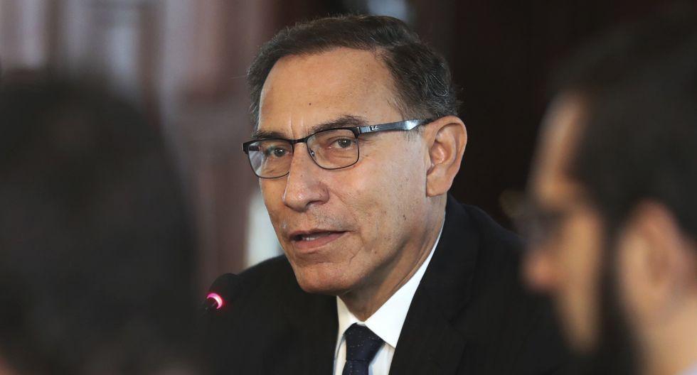"""""""Mis felicitaciones al presidente electo de la República Oriental del Uruguay, Luis Lacalle Pou"""", señaló Vizcarra. (Foto: AFP)"""