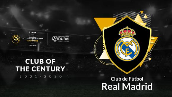 Real Madrid fue premiado como mejor club del siglo XXI | Foto: @Globe_Soccer