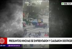 Presuntos hinchas se enfrentaron en las calles y causaron destrozos en San Miguel