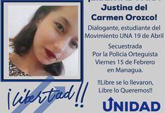"""Liberan a lideresa estudiantil que había sido """"secuestrada"""" por la Policía de Nicaragua"""