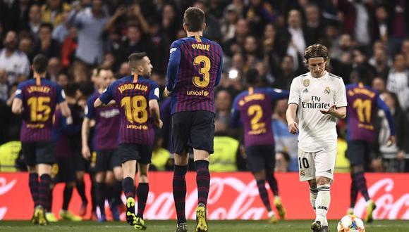 El Barcelona se metió en su sexta final consecutiva de Copa del Rey tras golear 3-0 al Real Madrid en el Santiago Bernabéu. (Foto: AFP)