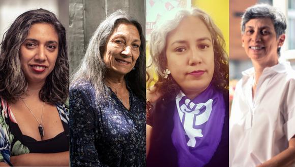 Katherine Mansilla (filósofa), Pepi Patrón (filósofa), Katherine Subirana (periodista) y Gisella Orjeda (bióloga): testimonios de cuatro mujeres canosas: llevar el cabello libre sí es un tema.