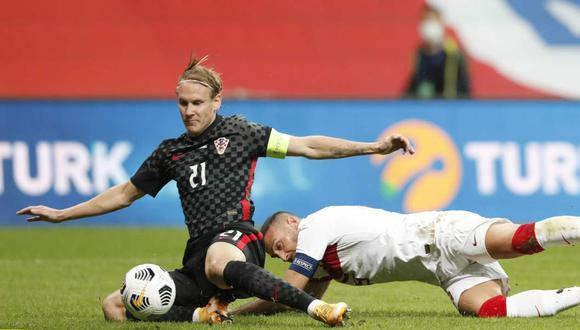 Domagoj Vida jugó el Turquía-Croacia siendo positivo al coronavirus. (Foto: Reuters)