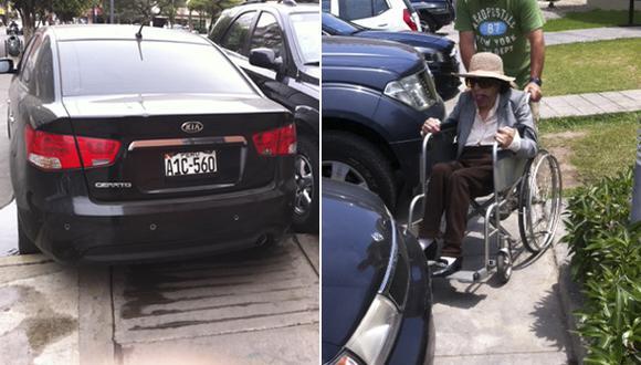 Autos bloquean rampas y accesos para discapacitados