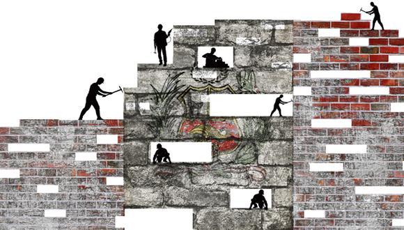 """""""¿Creyeron realmente que tendrían éxito atomizando la reconstrucción y entregando 9.976 obras (71% de ellas con presupuesto menor al millón de soles) a 306 inconexas unidades ejecutoras?"""" (Ilustración: Giovanni Tazza)"""