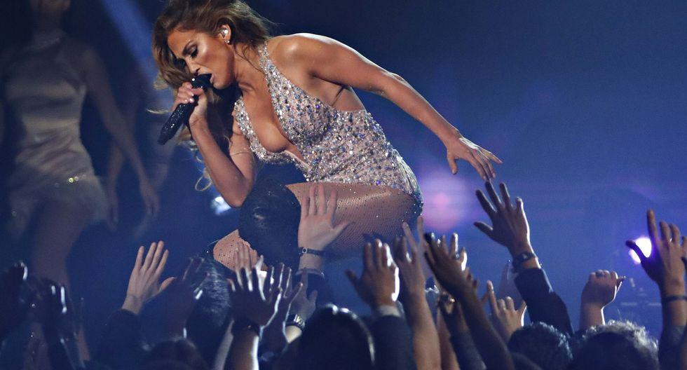 Jennifer López en los Grammy 2019 (Foto: Agencia)
