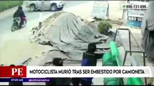 Motociclista pierde la vida tras impactar con camioneta en Canta